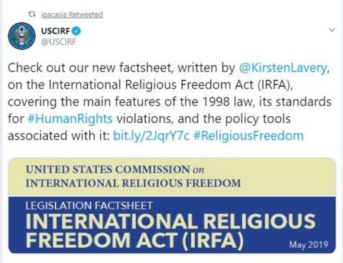 LEGISLATION FACTSHEET: INTERNATIONAL RELIGIOUS FREEDOM ACT (IRFA)